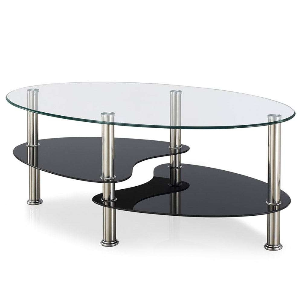 Coffee Tables Cara Elena Elise Glass Top Stainless Steel Modern Within Favorite Elena Coffee Tables (View 16 of 20)
