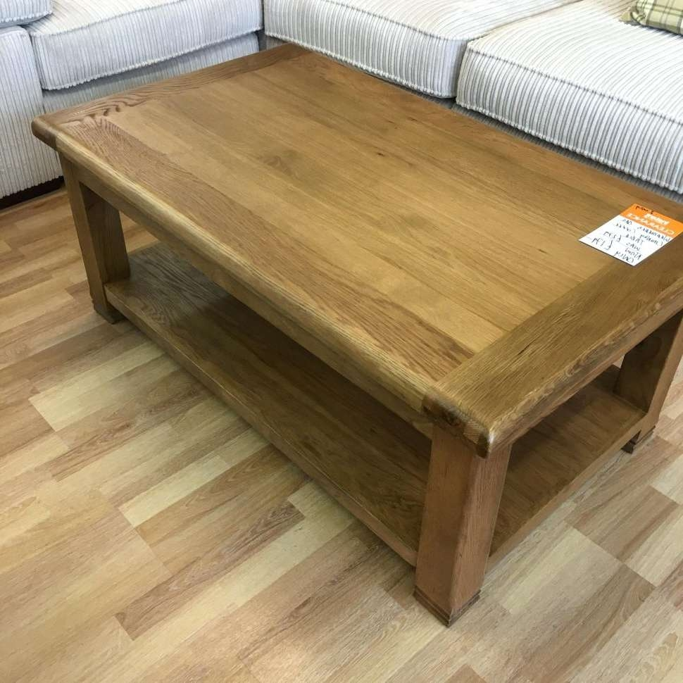 Coffee Tables : Chunky Coffee Table Clearance Weathered Oak Plans Within Popular Chunky Oak Coffee Tables (View 5 of 20)