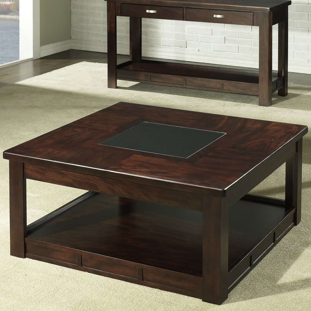 Coffee Tables : Coffee Table Square Wood With Storage Tables Glass Within Current Square Wood Coffee Tables With Storage (View 8 of 20)