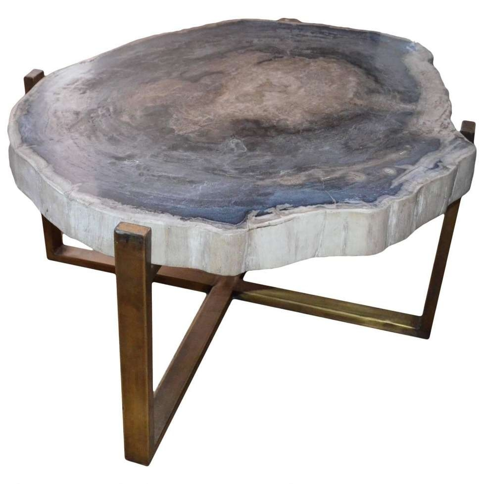 Coffee Tables : Coffee Table Steel Wagon Wheel Pedestal Italian Intended For Trendy Coffee Tables With Clock Top (View 13 of 20)