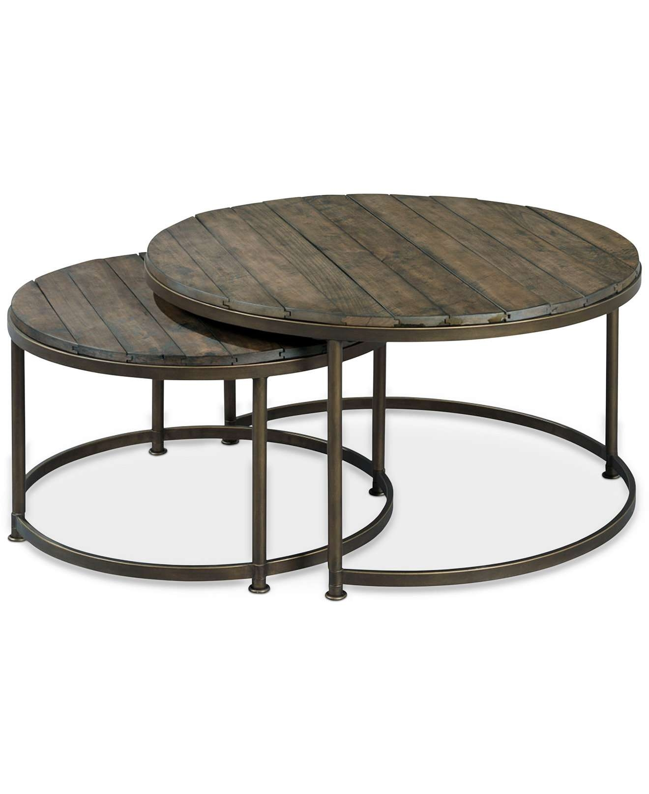 Coffee Tables : Coffee Table Stunning Metal Round Image Concept Inside Most Popular Gold Round Coffee Table (View 7 of 20)