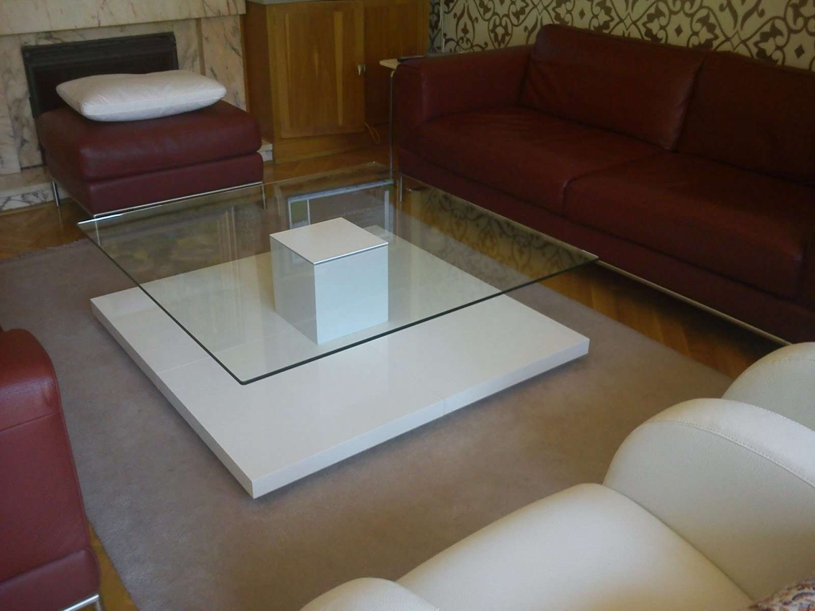 Coffee Tables : Cool Rectangle Cottage Wood White Coffee Table Pertaining To Widely Used Red Gloss Coffee Tables (View 11 of 20)