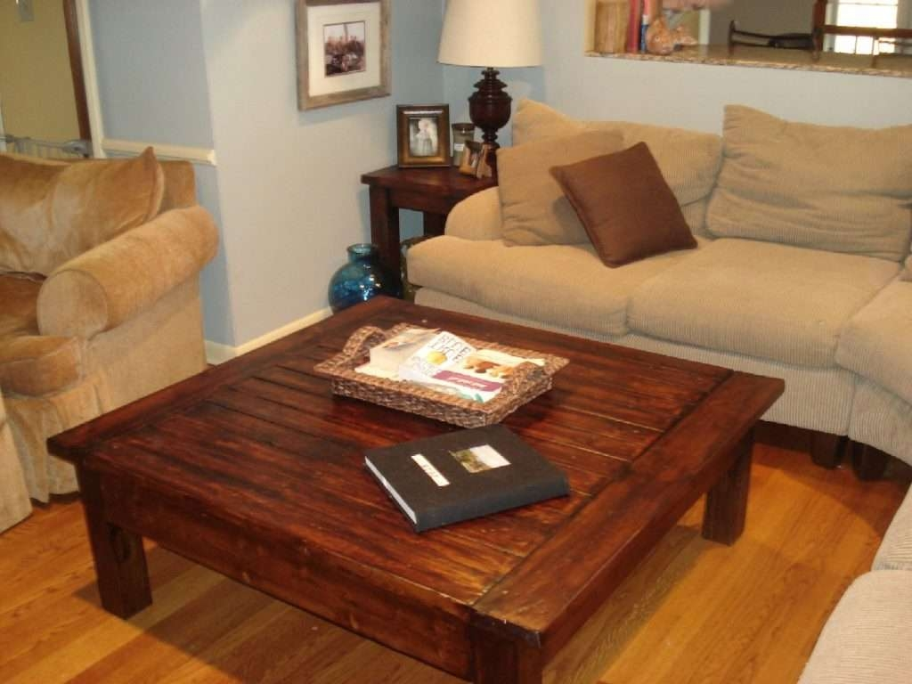 Coffee Tables Decor : Big Coffee Table Square Pillow Cushion Lamp With Regard To Trendy Big Square Coffee Tables (View 5 of 20)
