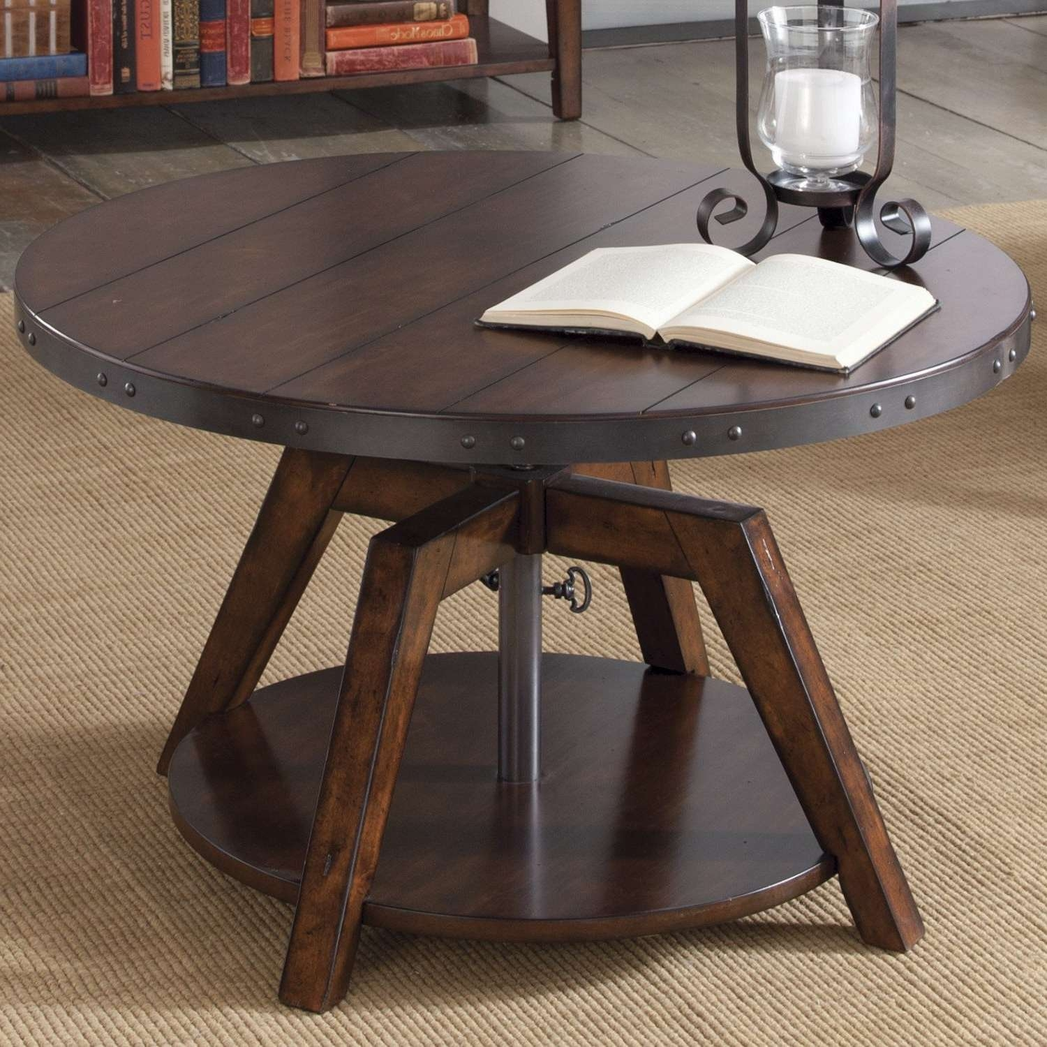 Coffee Tables : Dining Fabulous Rustic Table Trestle And Coffee Within Popular Coffee Tables With Rounded Corners (View 6 of 20)