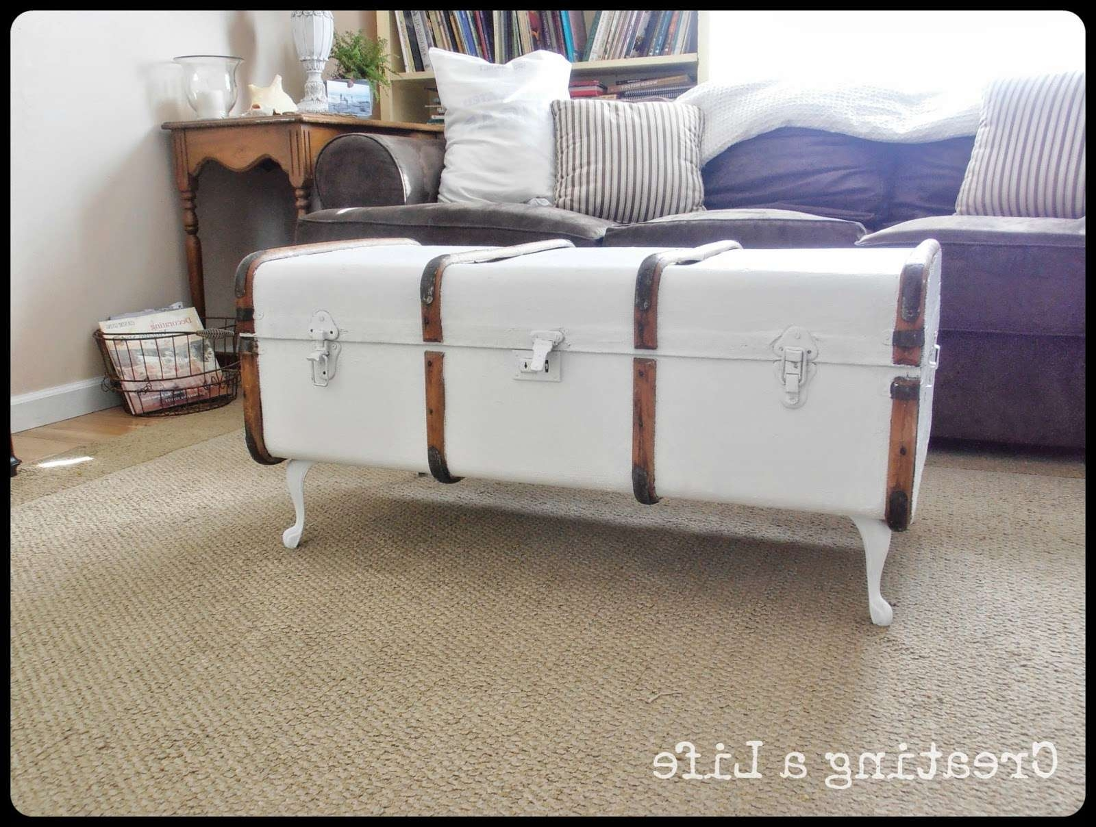 Coffee Tables : Diy Chest Coffee Table Small Trunk Coffee Table Intended For Most Popular Old Trunks As Coffee Tables (View 6 of 20)