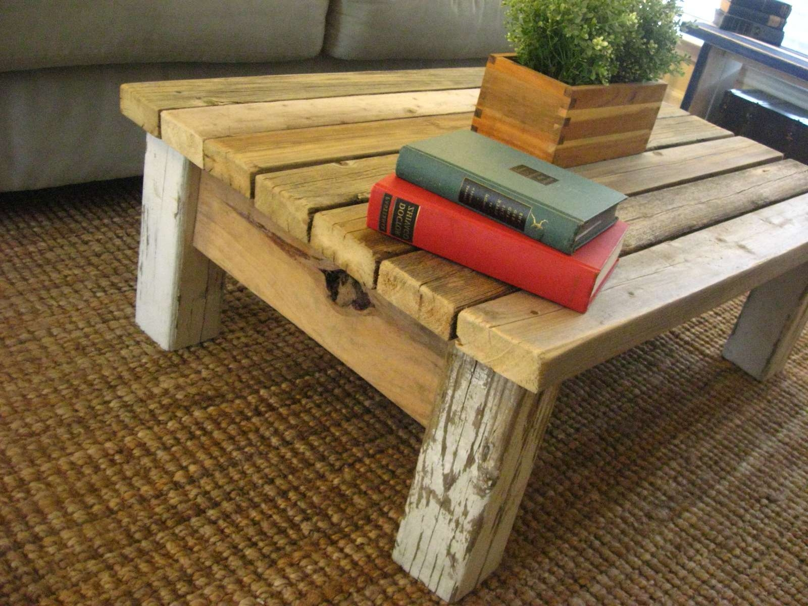 Coffee Tables : Diy Farmhouse Coffee Table Rustic Coffee Table With Widely Used Rustic Wood Diy Coffee Tables (View 7 of 20)