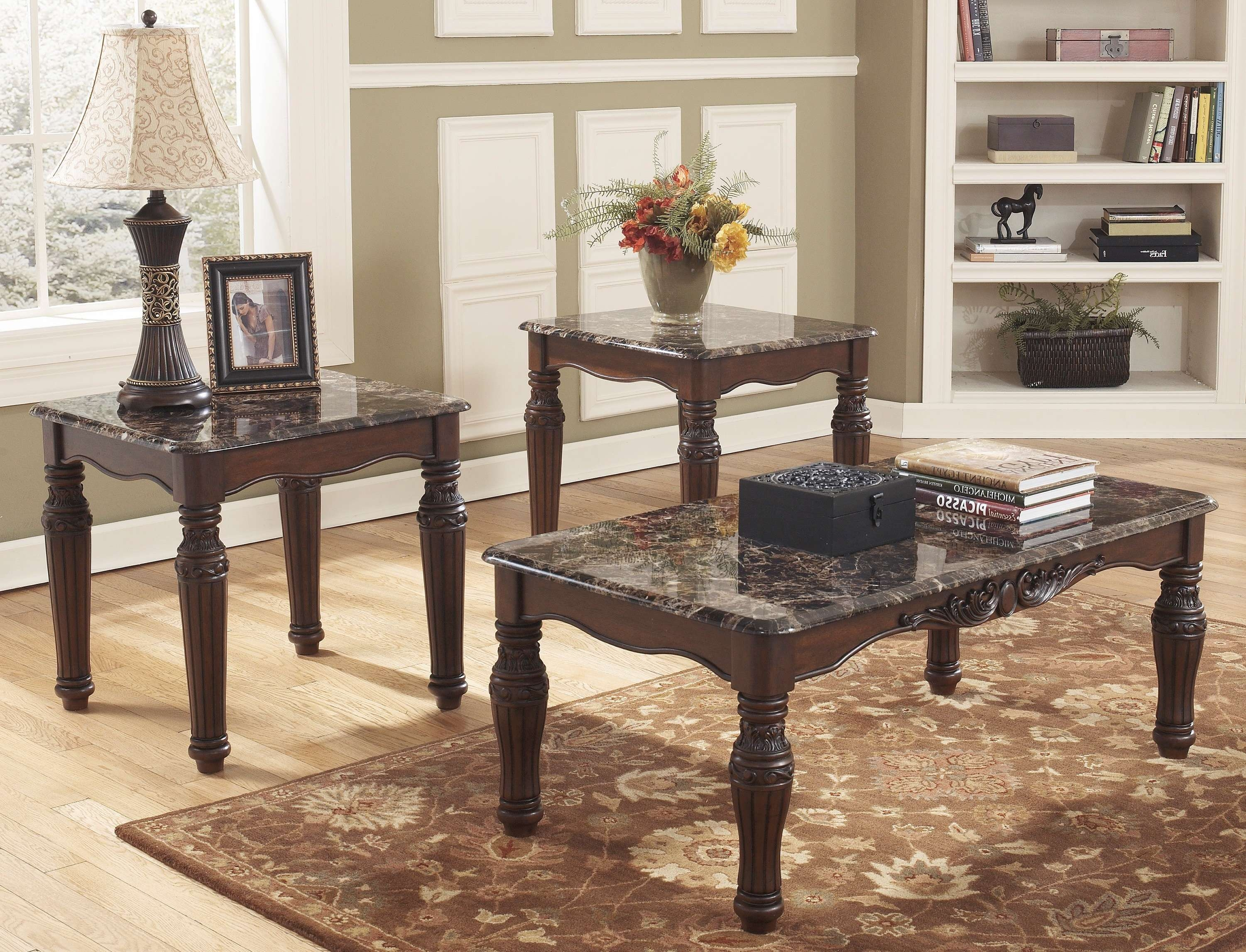 Coffee Tables : End Table Sets Round Coffee With Storage Ashley Intended For 2018 Coffee Table With Matching End Tables (View 5 of 20)