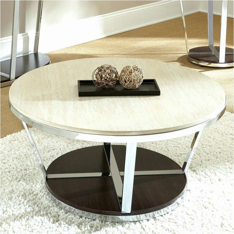 Coffee Tables : Espresso Coffee Table White Wood Black And Glass Pertaining To Trendy Glass And Stone Coffee Table (View 11 of 20)