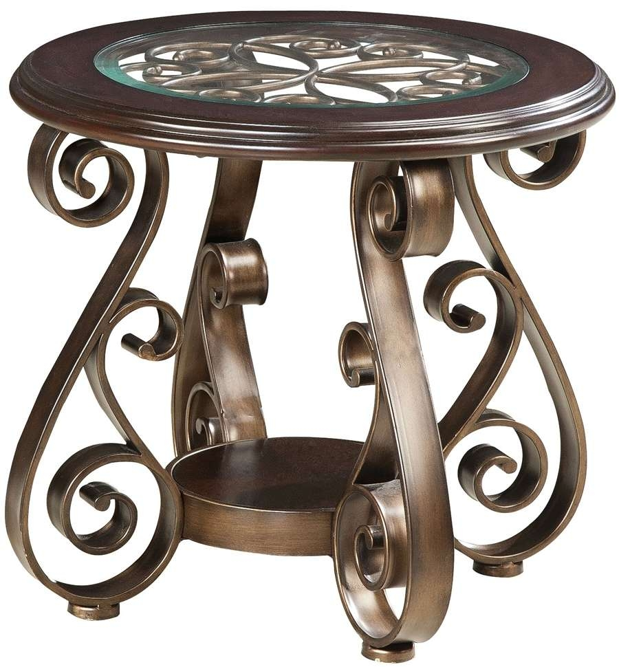 Coffee Tables : Excellent Brown Round Modern Unique Wrought Iron With Regard To 2017 Wrought Iron Coffee Tables (View 3 of 20)
