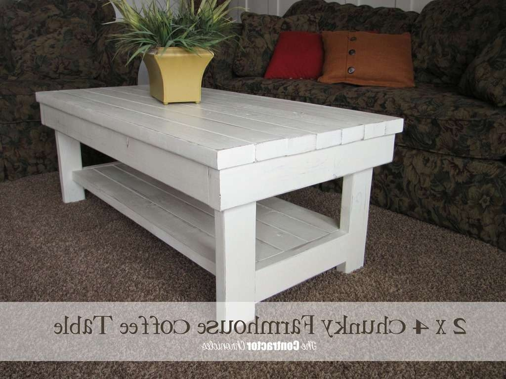 Coffee Tables : Exquisite X Chunky Farmhouse Coffee Table Finished Regarding Trendy Chunky Coffee Tables (View 5 of 20)