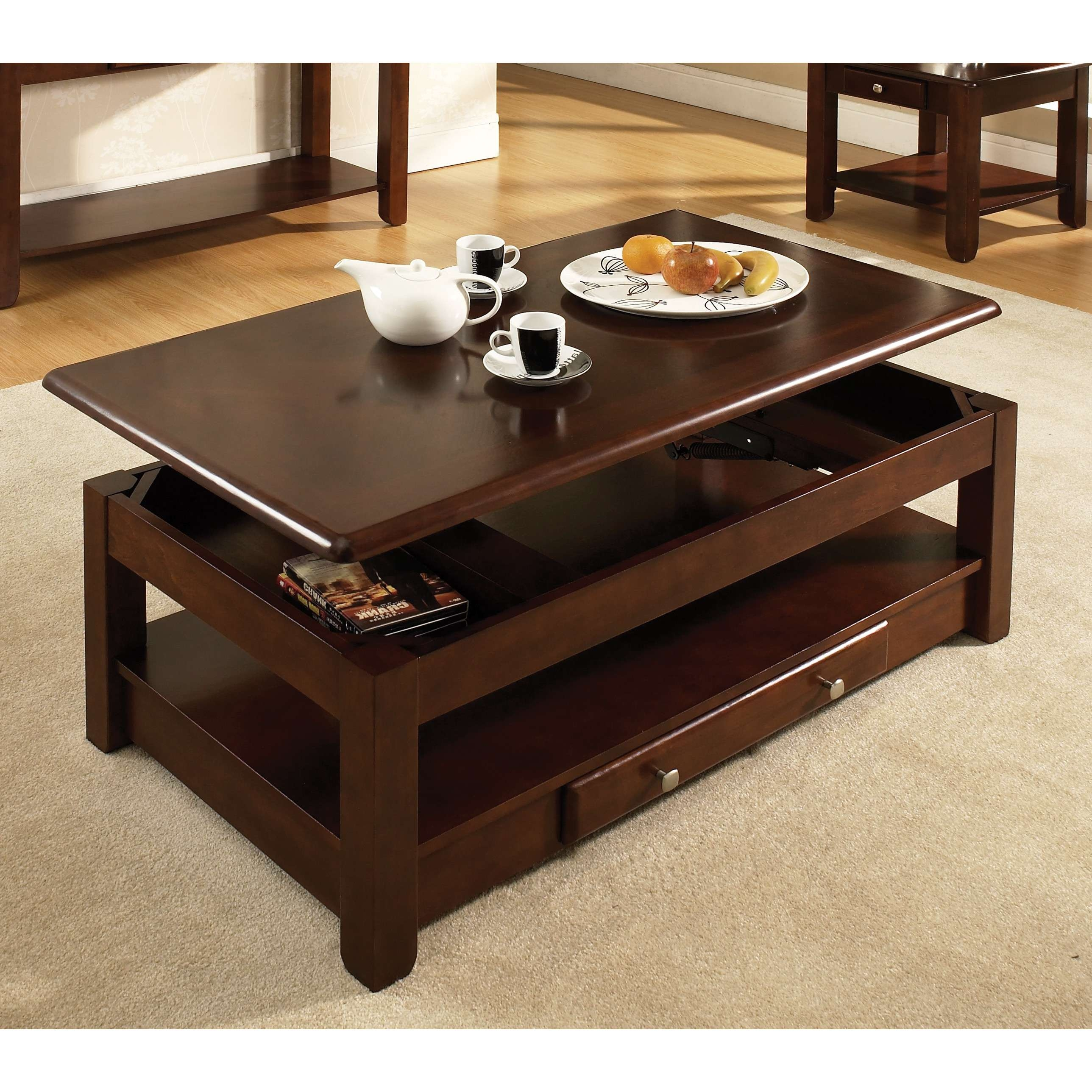 Coffee Tables : Extraordinary Dark Brown Modern Wood Lift Top Throughout Most Up To Date Coffee Tables With Raisable Top (View 10 of 20)