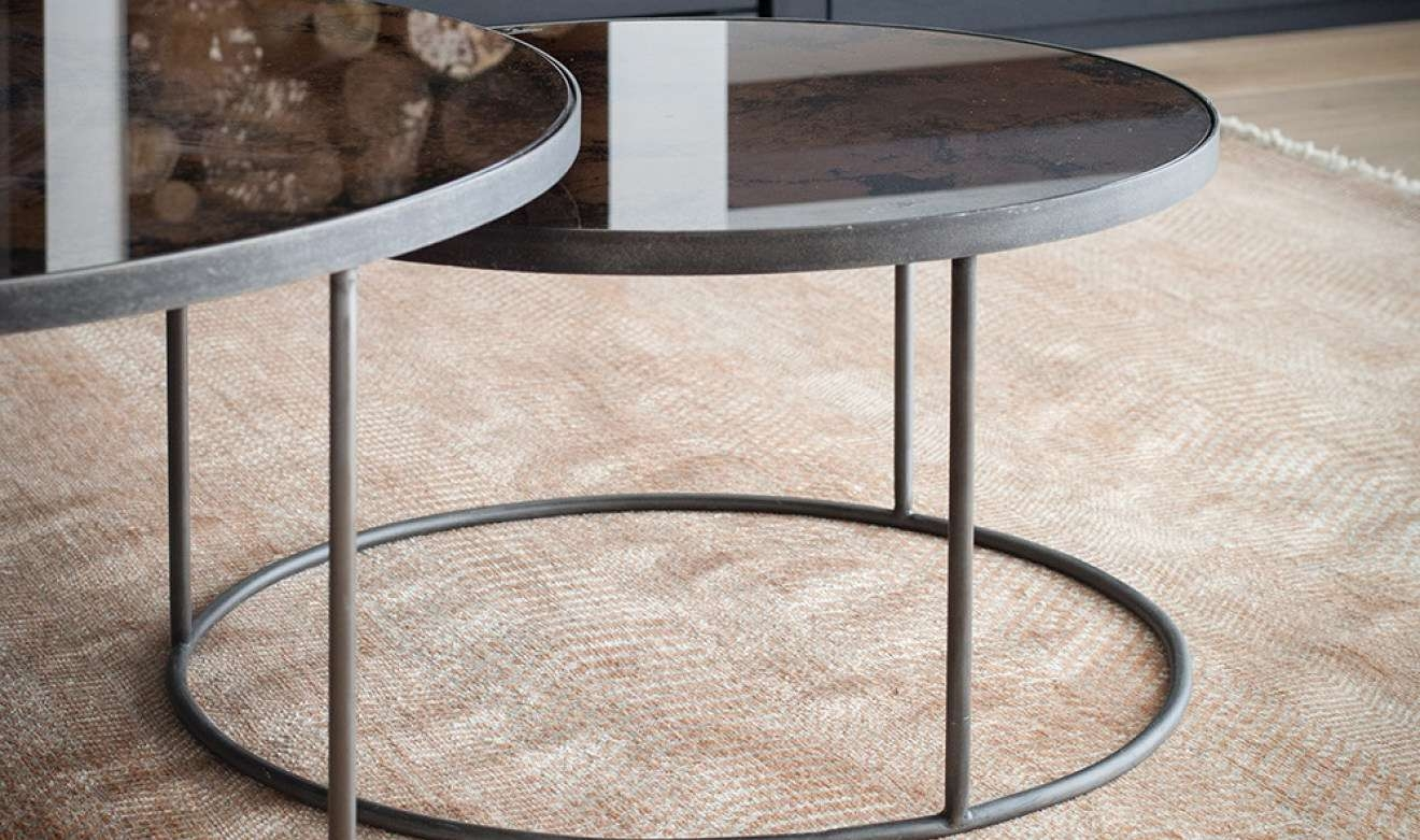 Coffee Tables : Fantastic Round Mirrored Coffee Table Tray Regarding Trendy Small Mirrored Coffee Tables (View 3 of 20)