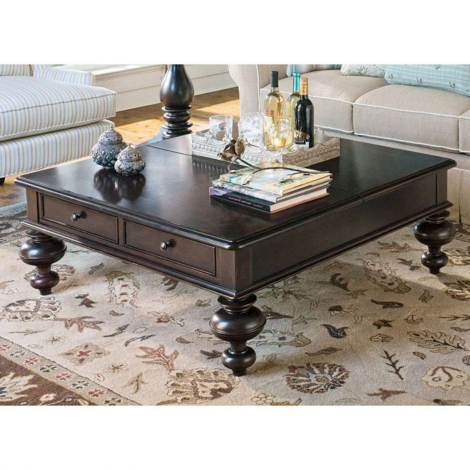 Coffee Tables : Farmhouse Coffee Table Ana White Rustic Square With Well Known Dark Wood Square Coffee Tables (View 18 of 20)