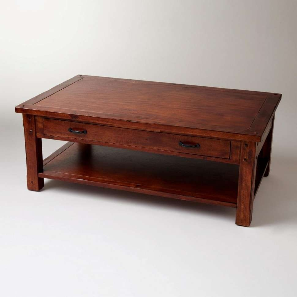 Coffee Tables : Furniture Dark Brown Coffee Table Ideas Rectangle Regarding Fashionable Low Oak Coffee Tables (View 20 of 20)