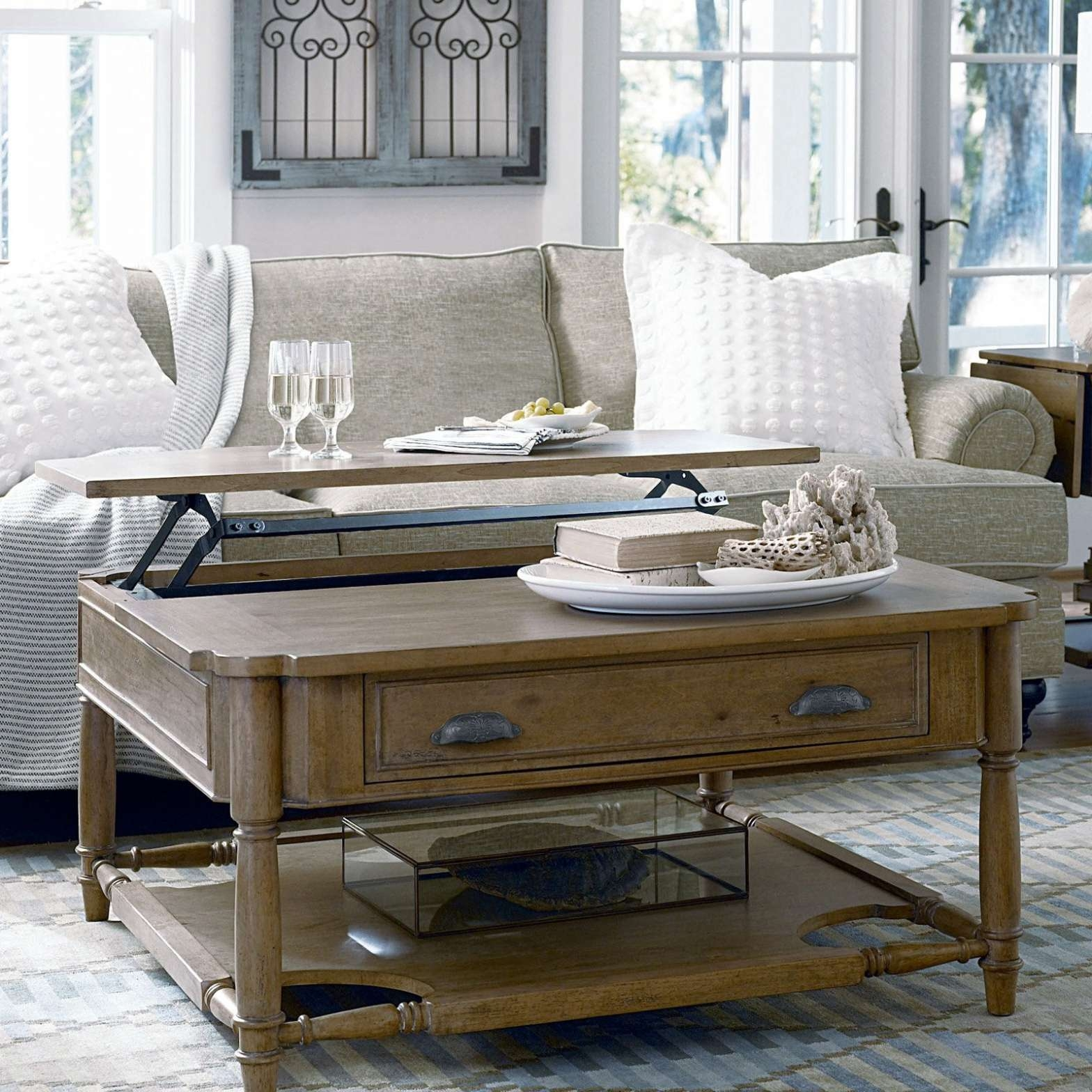 Coffee Tables : Furniture Paula Deen Coffee Table Designs Dark In Most Up To Date Extra Large Low Coffee Tables (View 7 of 20)