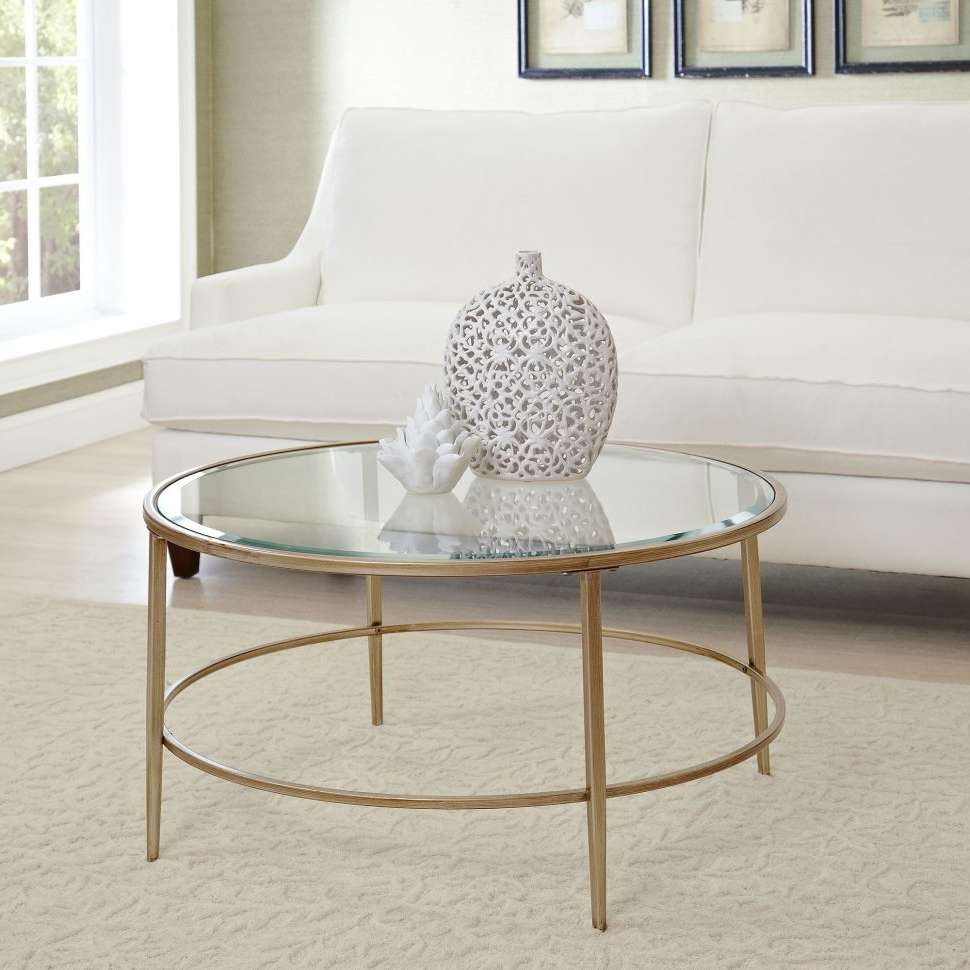 Coffee Tables : Glass Coffee Table Sets Lovely Amazing Gold Round With Regard To Most Current Glass Circle Coffee Tables (View 2 of 20)