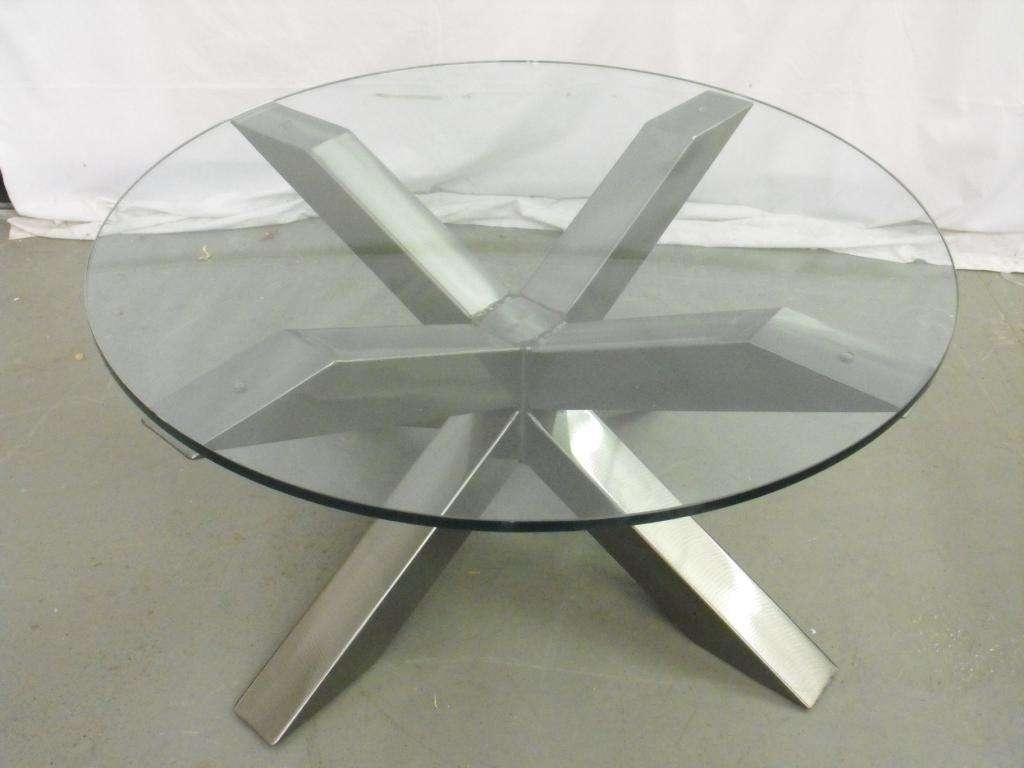 Coffee Tables : Glass Top Coffee Tables With Metal Base Table Inside Most Popular Metal Coffee Tables With Glass Top (View 9 of 20)