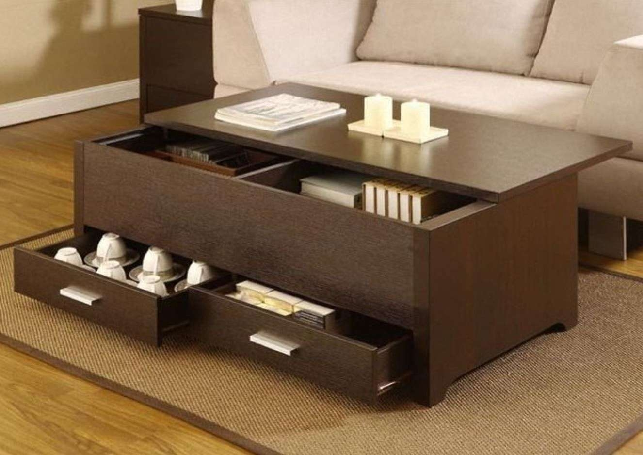 Coffee Tables : Good Black Coffee Tables With Storage About Within Fashionable Small Coffee Tables With Storage (View 4 of 20)