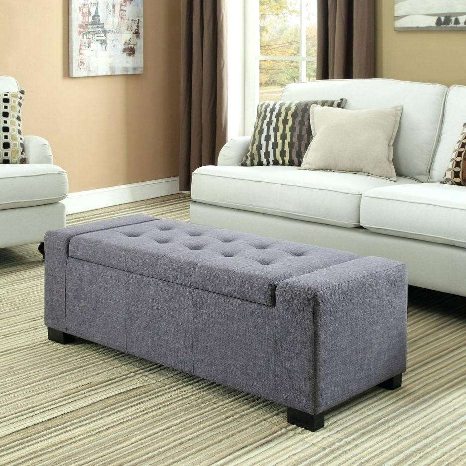 Coffee Tables : Grey Velvet Storage Ottoman Fabric Coffee Table With Most Popular Leopard Ottoman Coffee Tables (View 6 of 20)