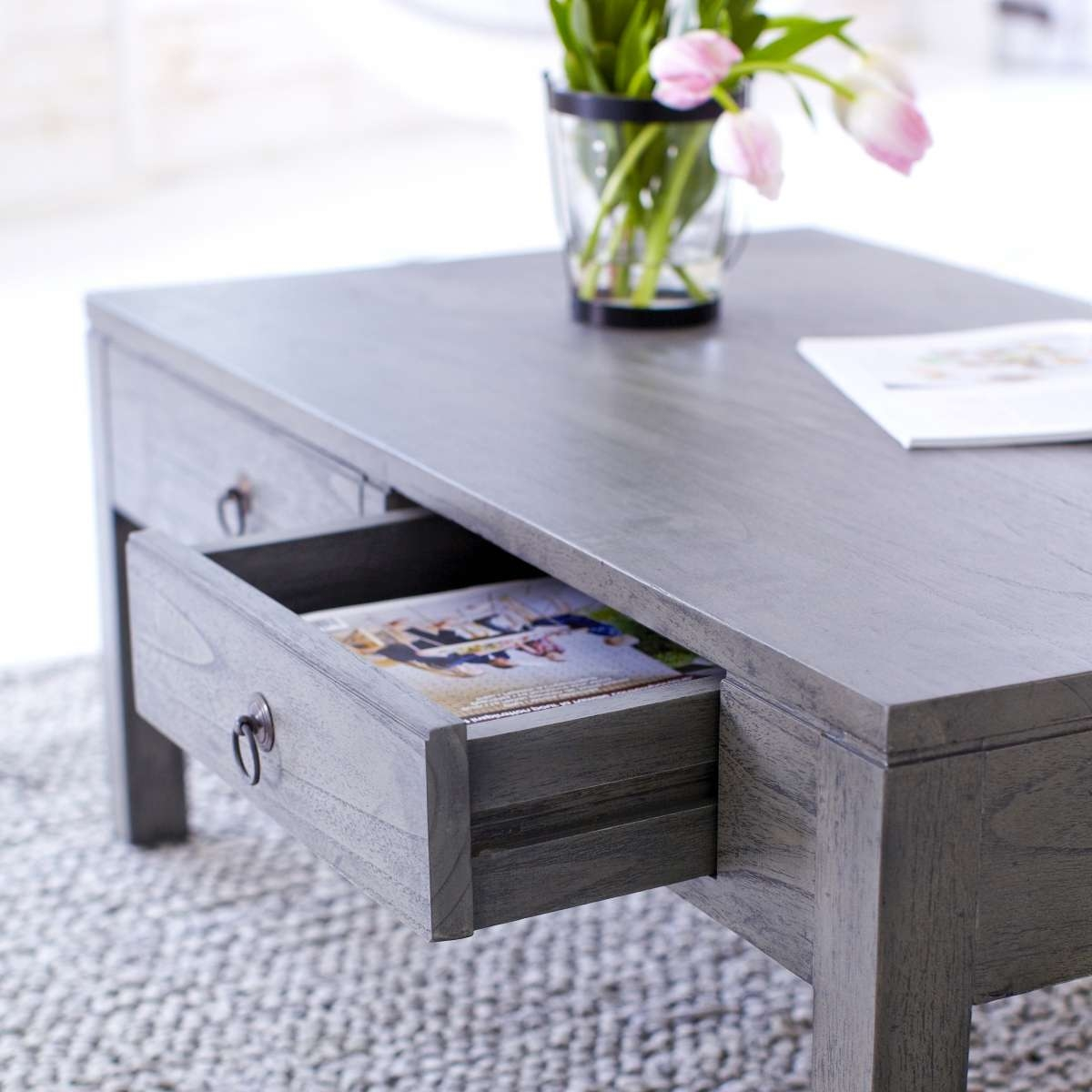 Coffee Tables : Grey Wood Coffee Table Awesome Rustic Plans Round Pertaining To Popular Grey Wood Coffee Tables (View 5 of 20)
