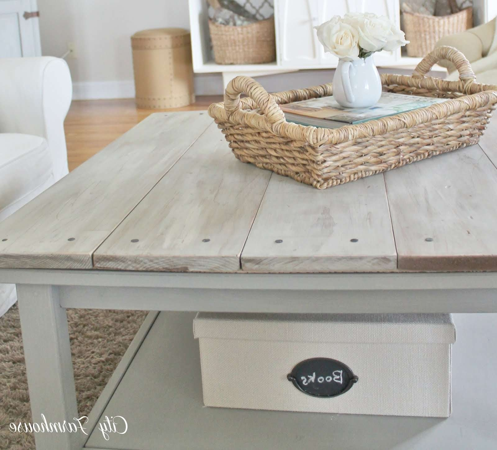 Coffee Tables : Grey Wood Coffee Table Lovely Rectangular Brushed Pertaining To Favorite Grey Wood Coffee Tables (View 14 of 20)