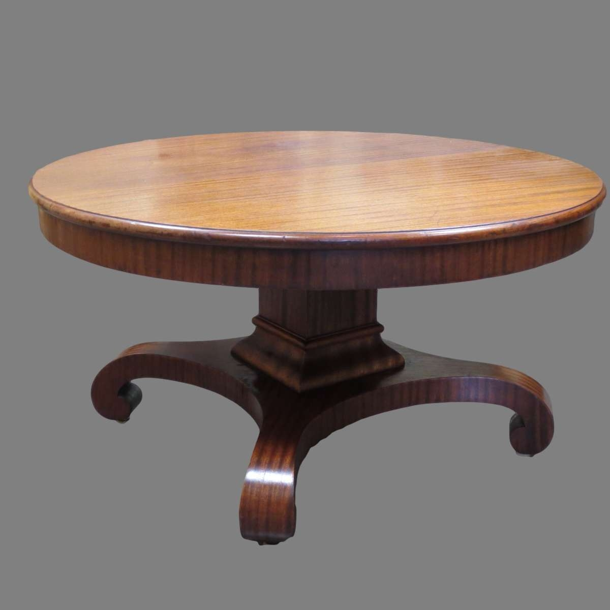 Coffee Tables Ideas: Awesome Antique Round Coffee Table Wood Intended For Current Round Oak Coffee Tables (View 5 of 20)