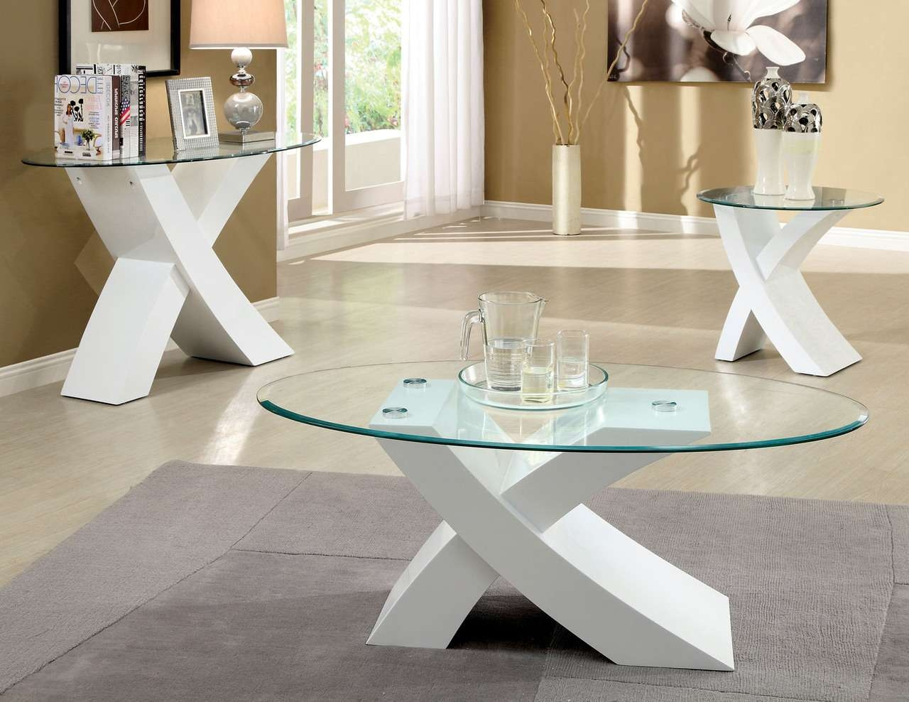 Coffee Tables Ideas: Awesome White Coffee And End Table Sets Pertaining To 2017 High Quality Coffee Tables (View 4 of 20)