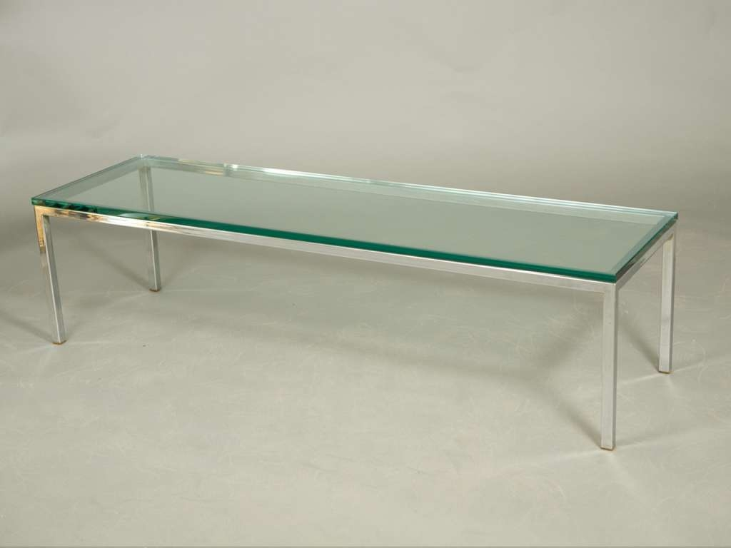 Coffee Tables Ideas: Best Glass Chrome Coffee Table Rectangle Within Well Liked Rectangle Glass Chrome Coffee Tables (View 9 of 20)