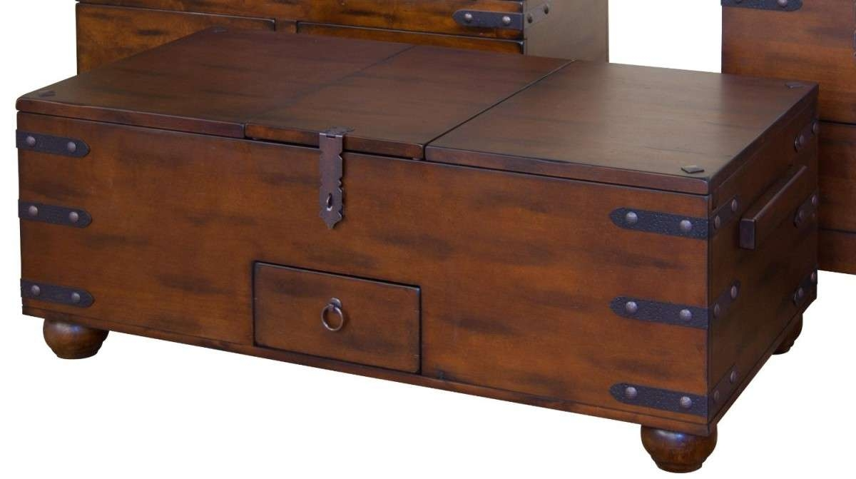 Coffee Tables Ideas: Modern Trunk Style Coffee Tables Trunk Coffee Intended For Trendy Trunk Chest Coffee Tables (View 16 of 20)
