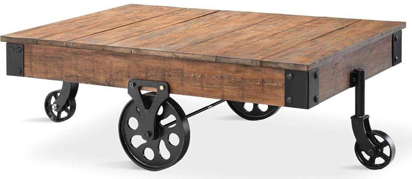 Coffee Tables Ideas: Rural Traditional Coffee Table With Wheels Within Well Known High Quality Coffee Tables (View 9 of 20)