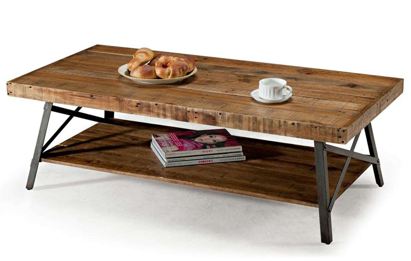 Coffee Tables Ideas: Rustic Wooden Coffee Table With Wheels Regarding Most  Up To Date Rustic