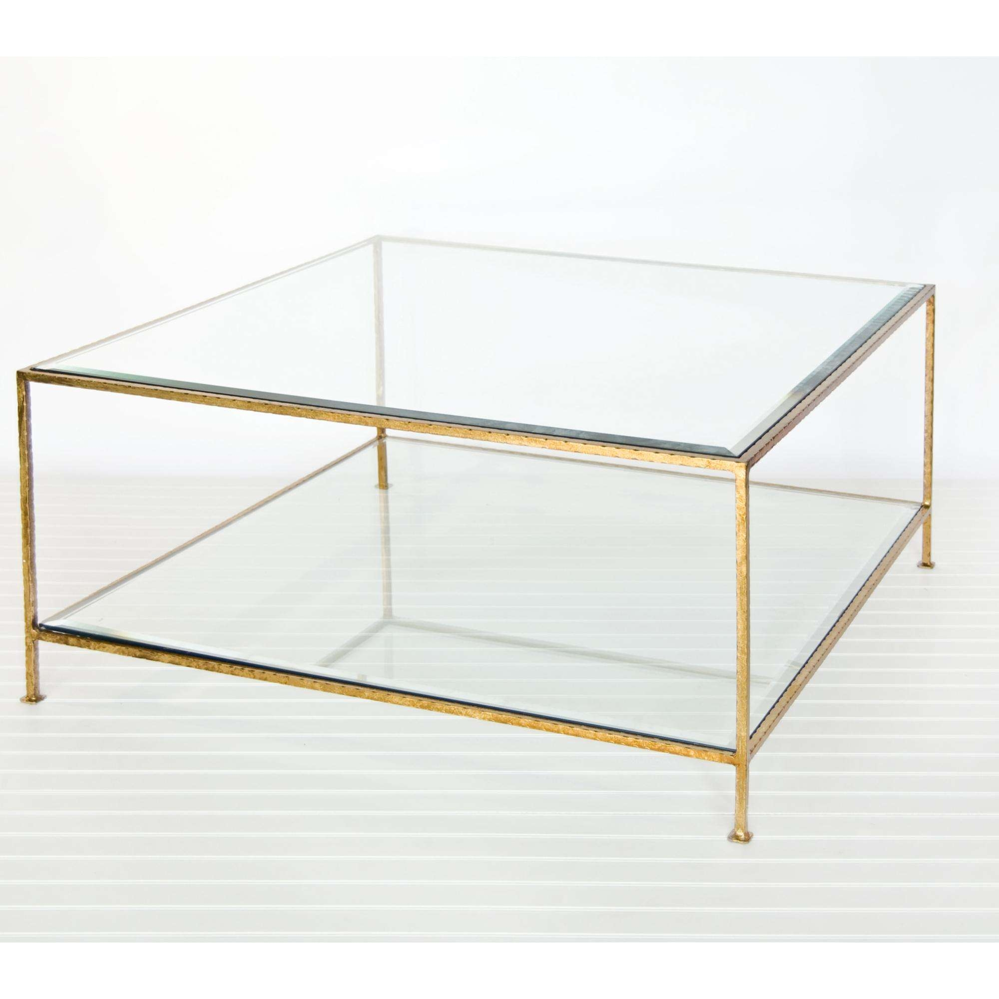 Coffee Tables Ideas: Sensational Glass And Gold Coffee Table Inside Current Glass Gold Coffee Tables (View 3 of 20)