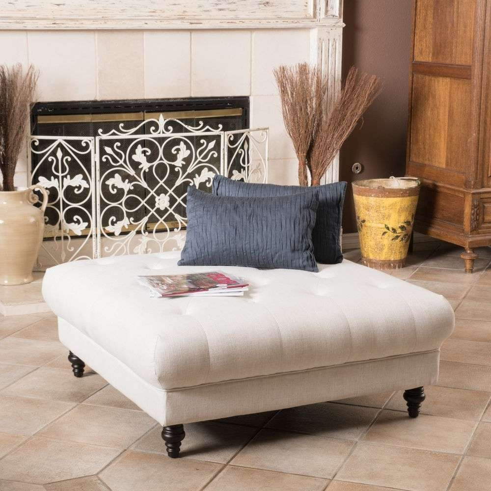 Coffee Tables Ideas: Storage With Fabric Coffee Table Ottoman With Regard To Latest Fabric Coffee Tables (View 6 of 20)