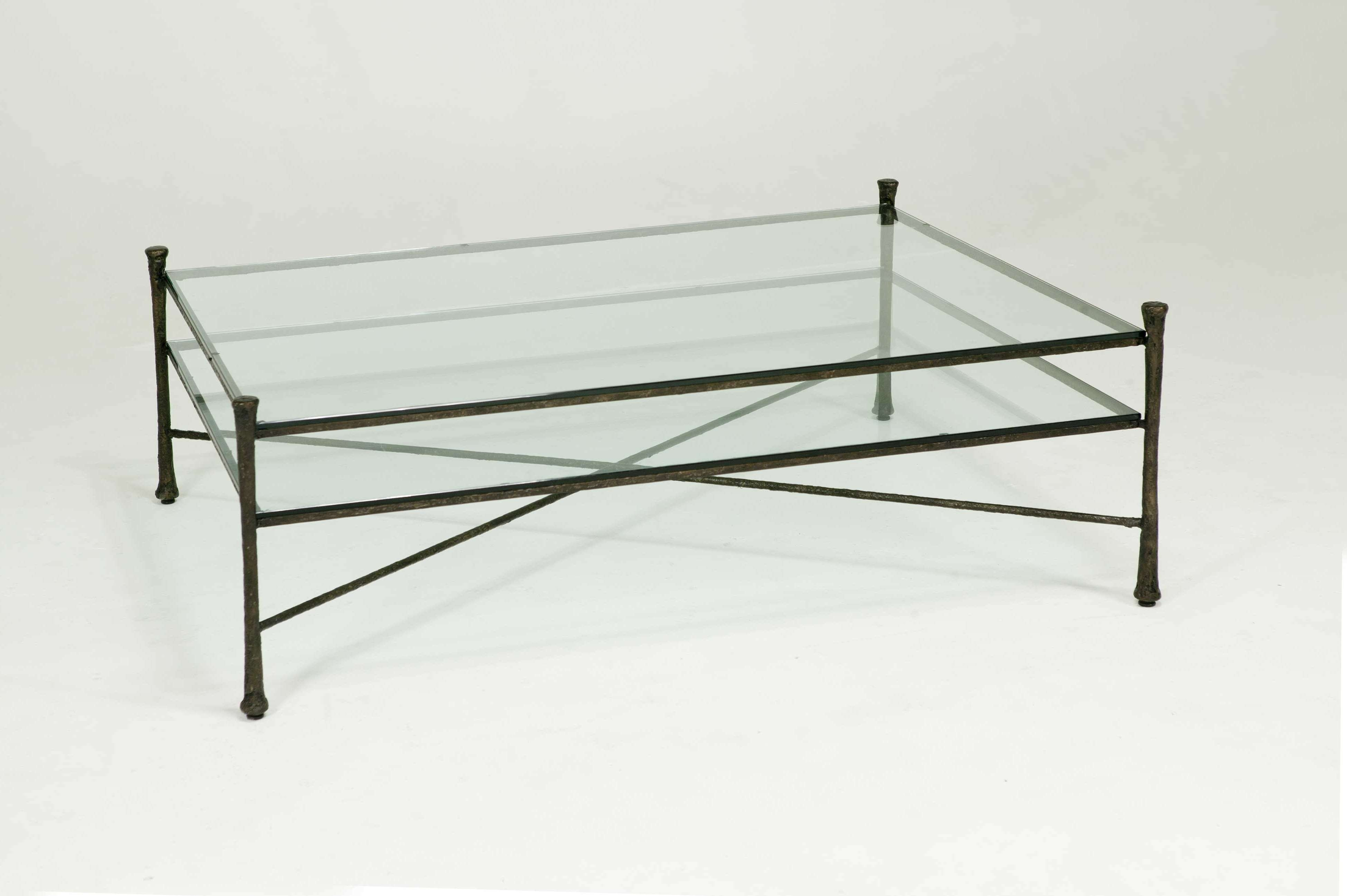 Coffee Tables Ideas: Top Metal Glass Coffee Table Wrought Iron For Well Known Metal And Glass Coffee Tables (View 3 of 20)
