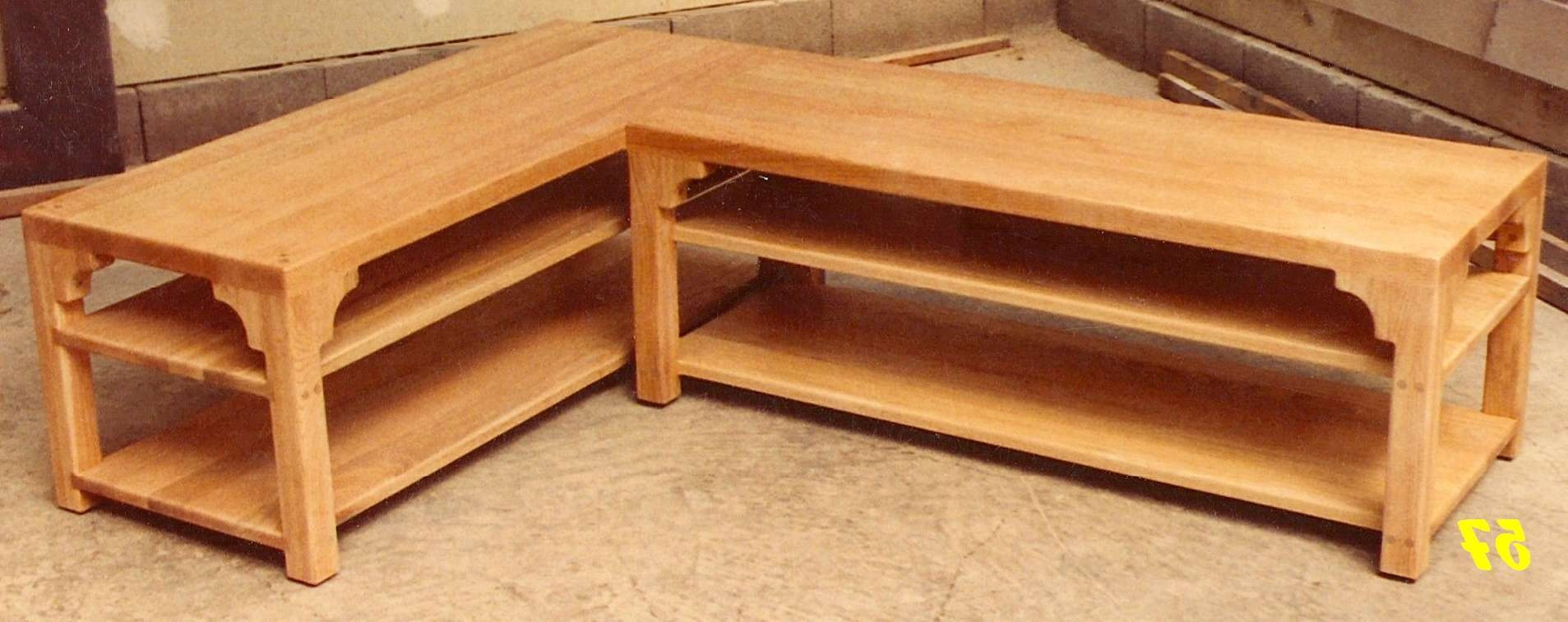 Coffee Tables Ideas: Top Oak Coffee Table And End Tables Oak End With Famous L Shaped Coffee Tables (View 6 of 20)