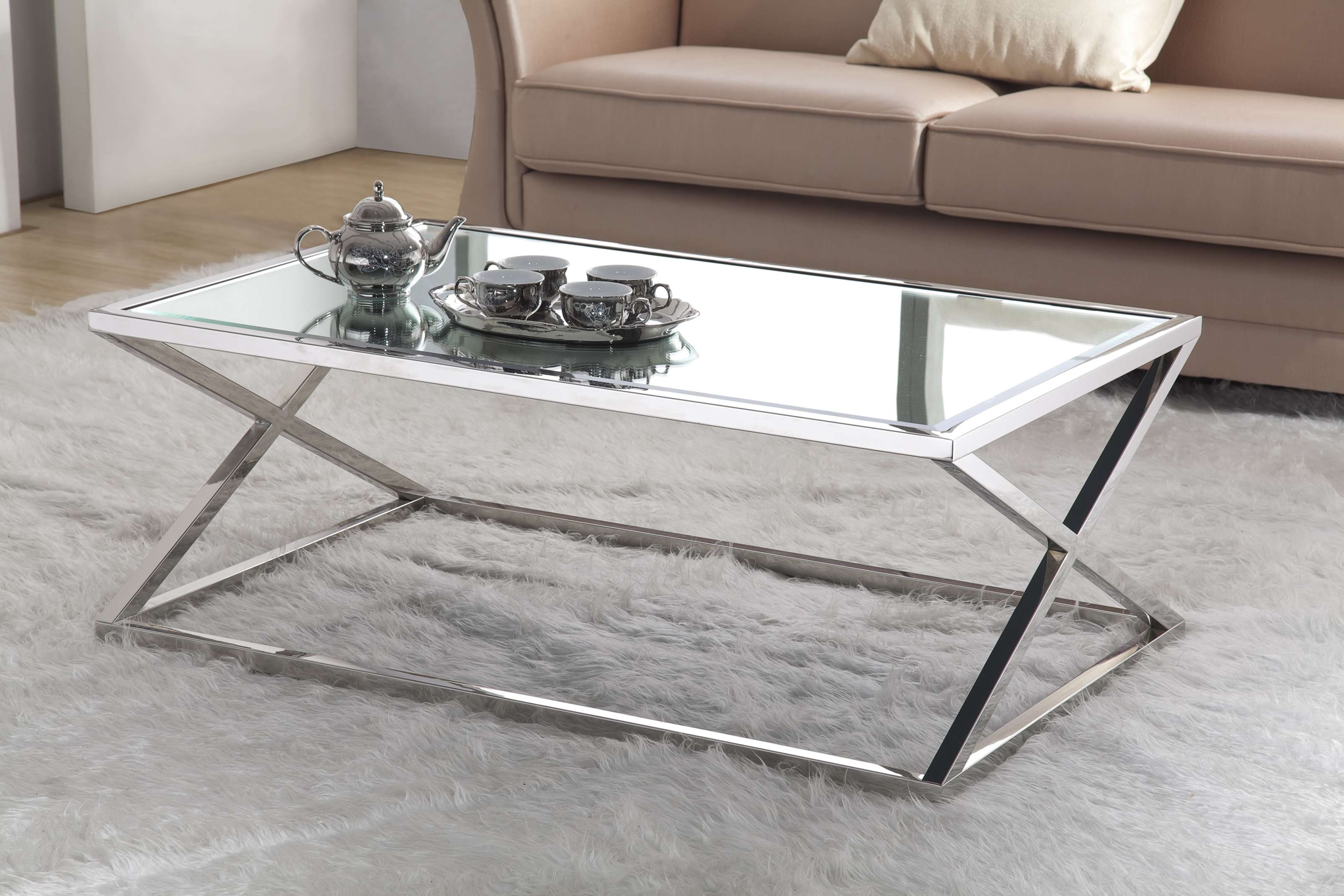 Coffee Tables Ideas: Top Stainless Coffee Table Legs Stainless Intended For Most Recently Released Stainless Steel Trunk Coffee Tables (View 5 of 20)