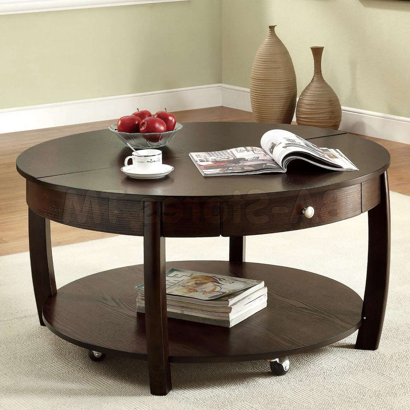 Coffee Tables Ideas: Unique Small Coffee Table With Storage Small For Best And Newest Circle Coffee Tables (View 8 of 20)