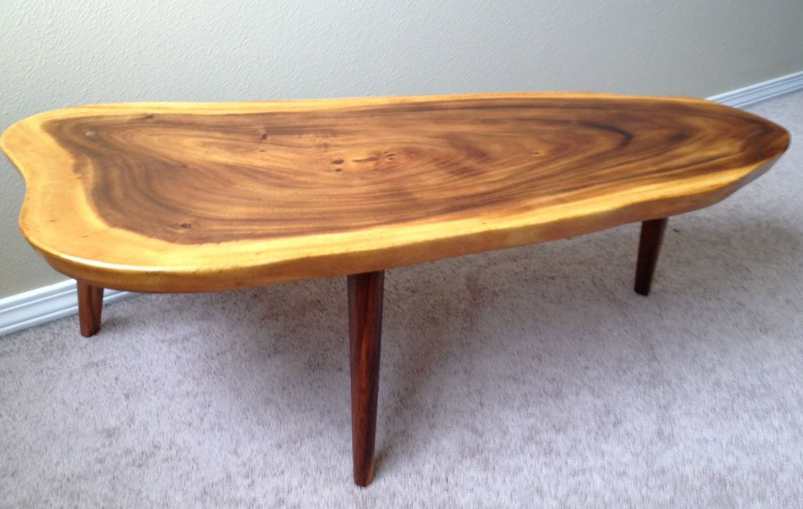 Coffee Tables Ideas: Woth Metal Slab Wood Coffee Table Legs Making With  Regard To Popular