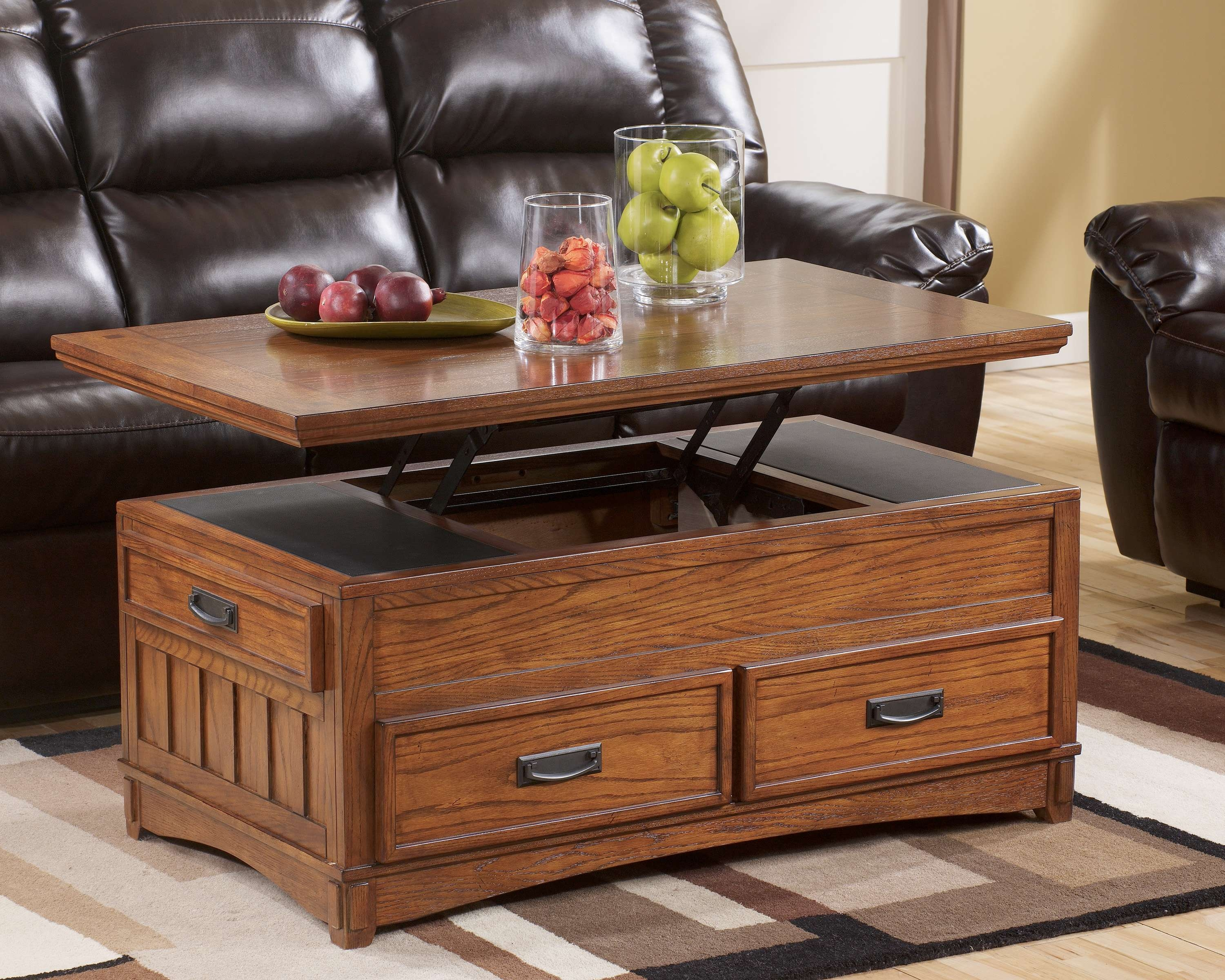 Coffee Tables : Image Wood Lift Top Coffee Table Ana White Diy For Famous Elevating Coffee Tables (View 13 of 20)