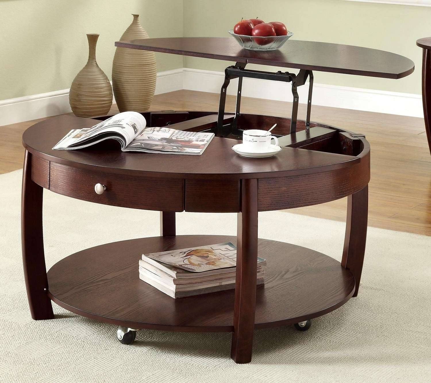 Coffee Tables : Img Coffee Table That Raises Up Ana White Lift Top In Most Popular Pop Up Top Coffee Tables (View 14 of 20)