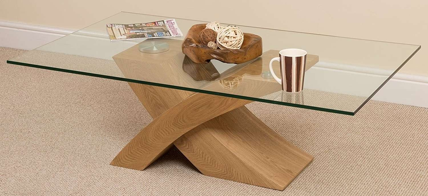 Coffee Tables : Img Wood Glass Coffee Table Woodgrain Reality Within Famous Oak And Glass Coffee Table (View 7 of 20)