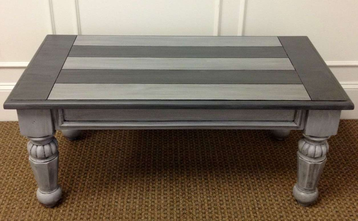 Coffee Tables : Inspiring Gray Rectangele Vintage Wood Grey Coffee For Most Current Grey Coffee Tables (View 5 of 20)