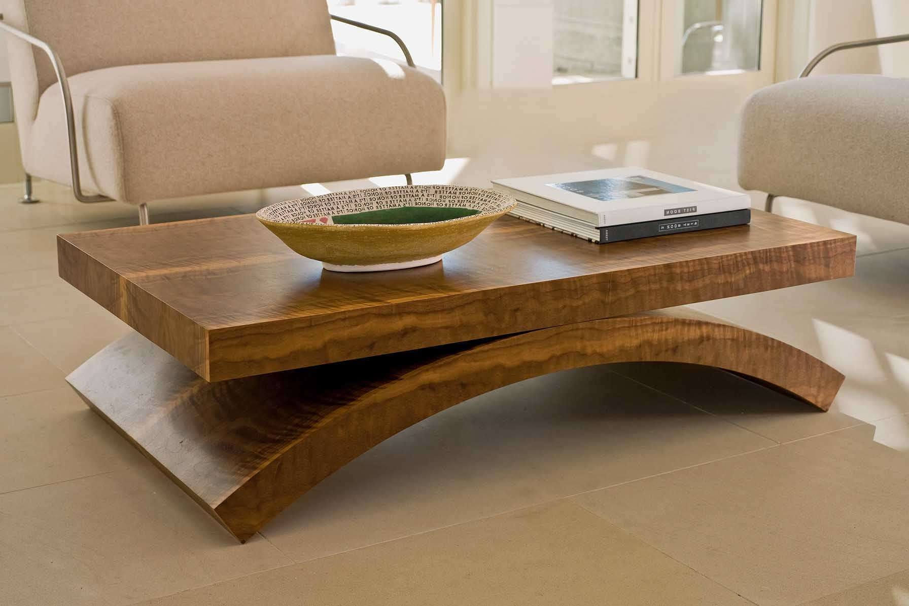 Coffee Tables : Japanese Style Wooden Modern Coffee Table Fit In Inside Recent Large Contemporary Coffee Tables (View 8 of 20)