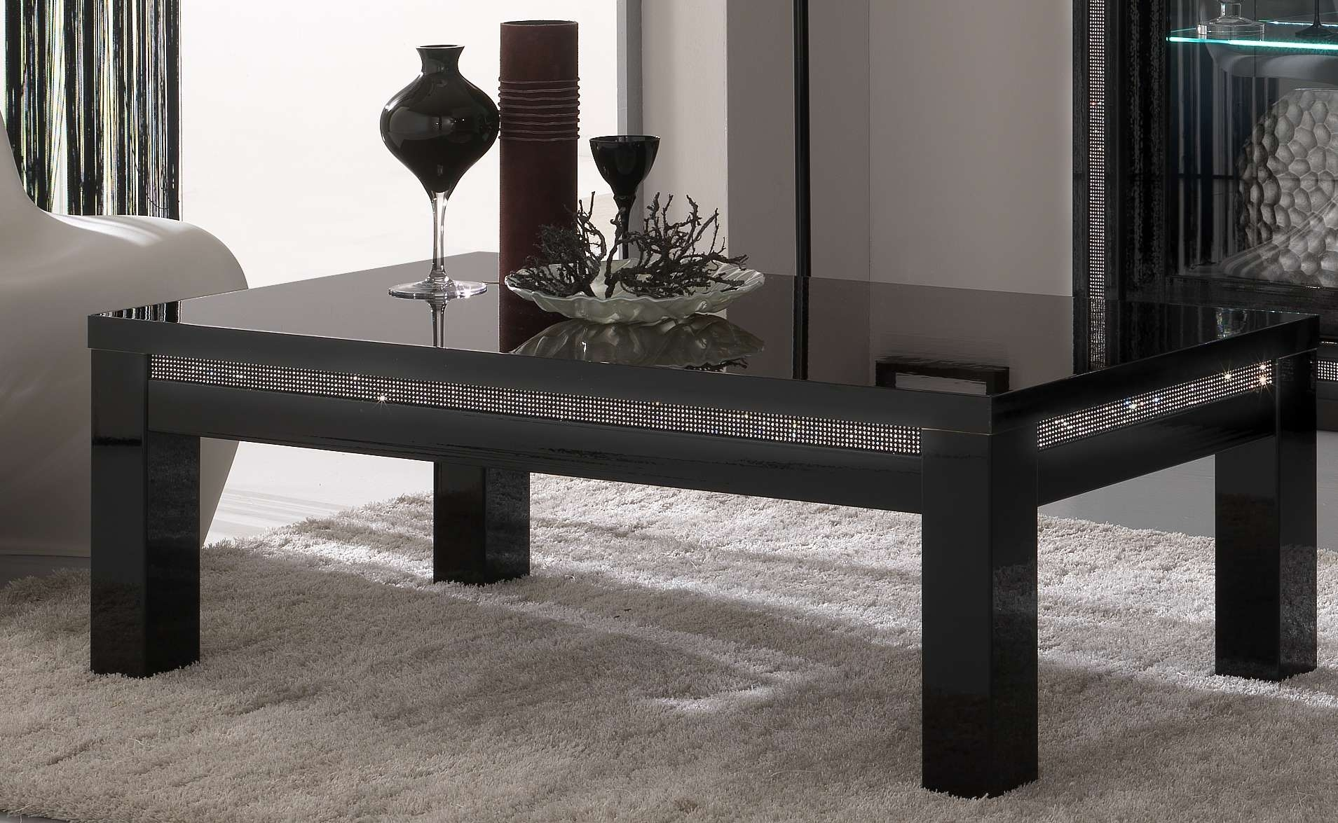 Coffee Tables : Lack Coffee Table Black Brown Tables Cm Ikea Art With Well Known Black Glass Coffee Tables (View 10 of 20)