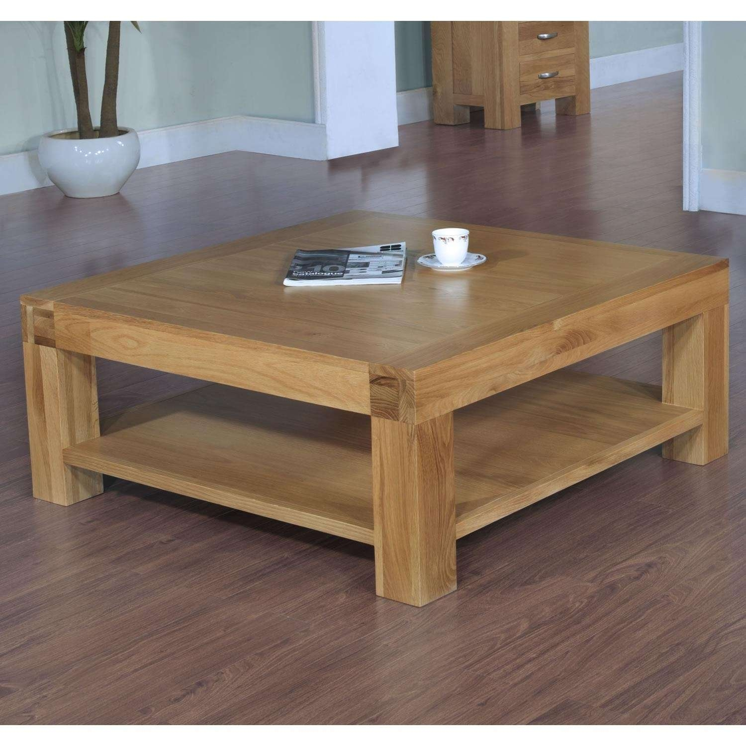 Coffee Tables : Large Oak Beam Coffee Table Coffee Addicts With Inside Recent Solid Oak Beam Coffee Table (View 3 of 20)