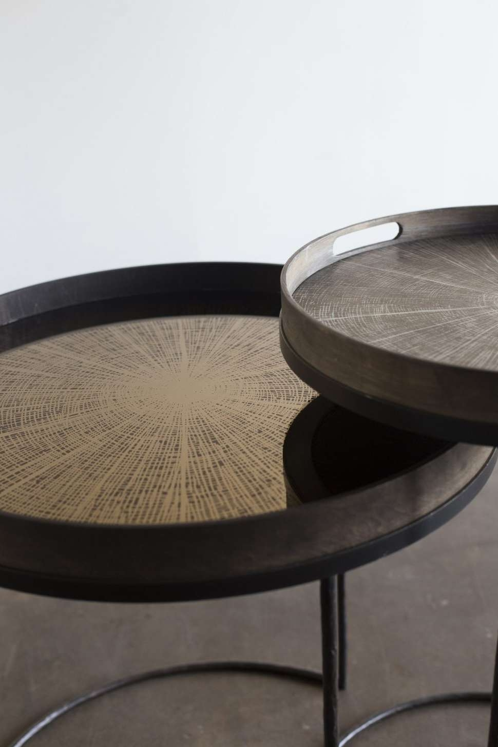 Coffee Tables : Large Round Coffee Table Tray Home Decorati Thippo In Most  Popular Oversized Round