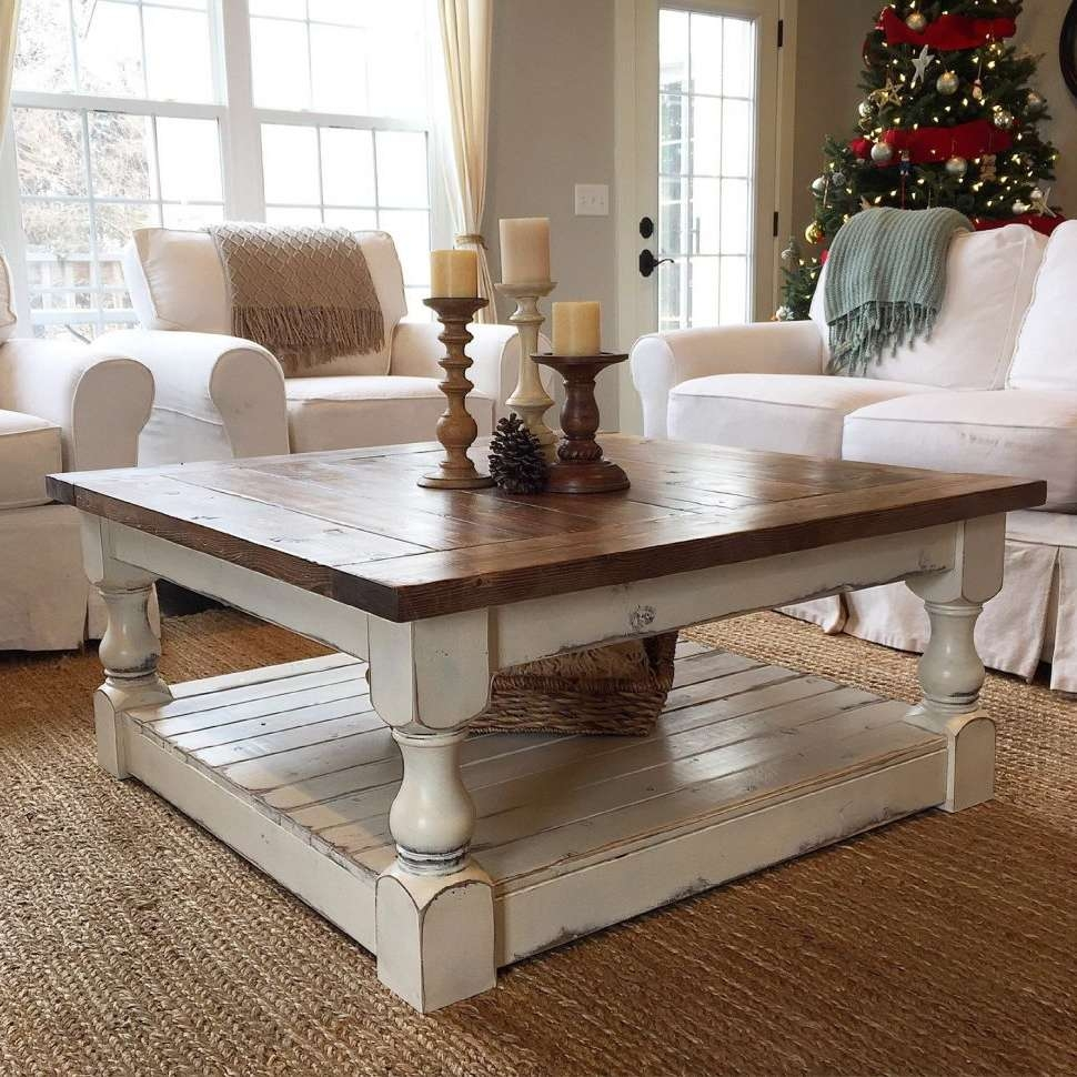 Coffee Tables : Large White Square Coffee Table Upholstered And With Regard To Well Known Big Low Coffee Tables (View 8 of 20)