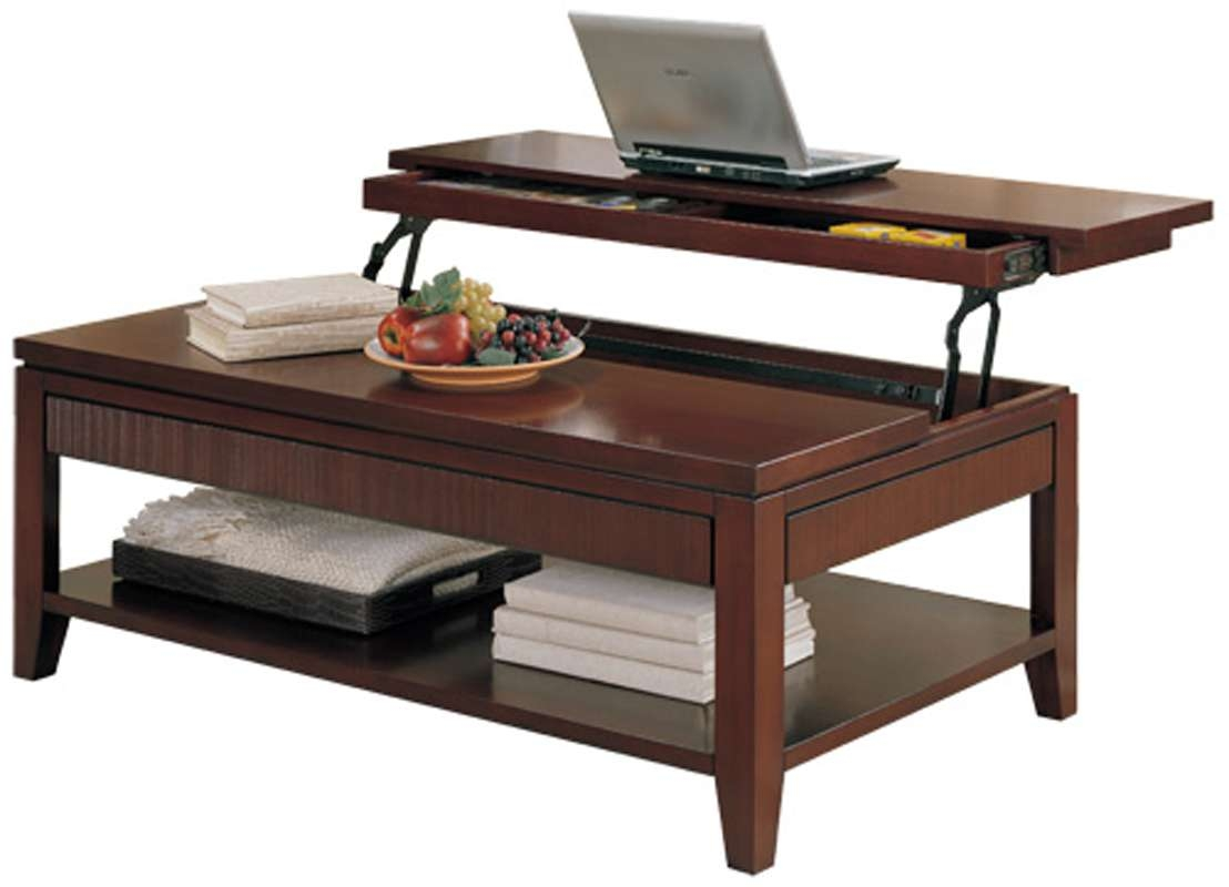 Coffee Tables : Lift Top Coffee Table With Storage Flip — Office For Latest Lift Top Coffee Tables With Storage (View 5 of 20)