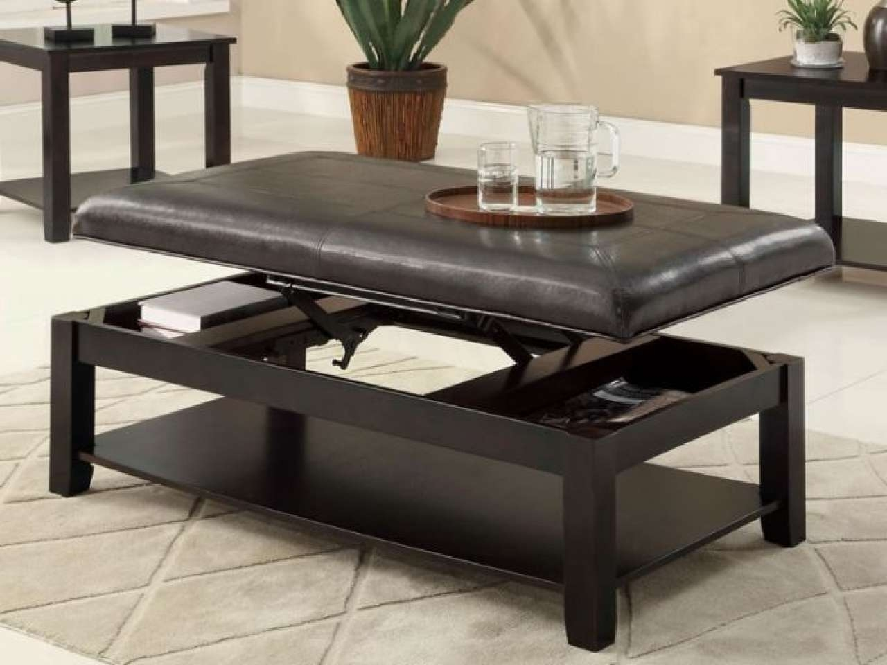 Coffee Tables : Lift Top Storage Ottoman Meijer Home Decor Coffee For Most Up To Date Glass Lift Top Coffee Tables (View 10 of 20)