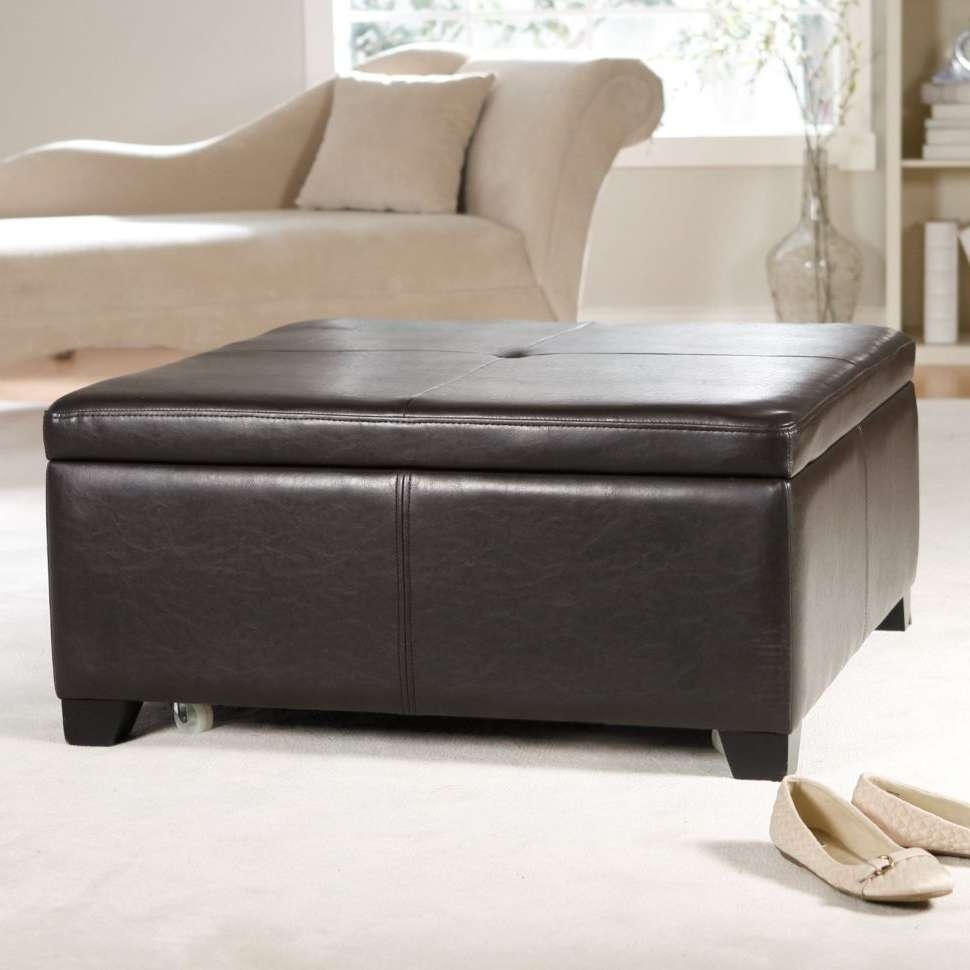 Coffee Tables : Low Ottoman Coffee Table Best Round Upholstered Pertaining To 2018 Leopard Ottoman Coffee Tables (View 13 of 20)